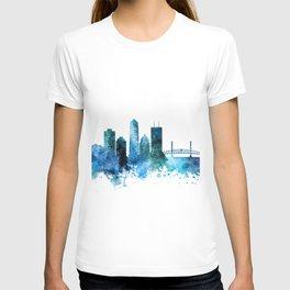 Jacksonville Florida Skyline T-shirt