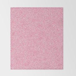 Melange - White and Dark Pink Throw Blanket