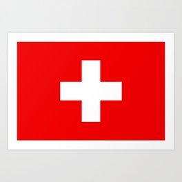 Swiss Flag of Switzerland Art Print