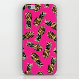 Pink Pineapple iPhone Skin