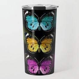 3 colorful butterflies Travel Mug