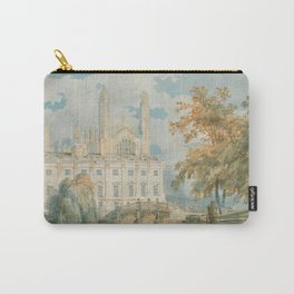 """J.M.W. Turner """"Clare Hall and King's College Chapel, Cambridge, from the Banks of the River Cam"""" Carry-All Pouch"""
