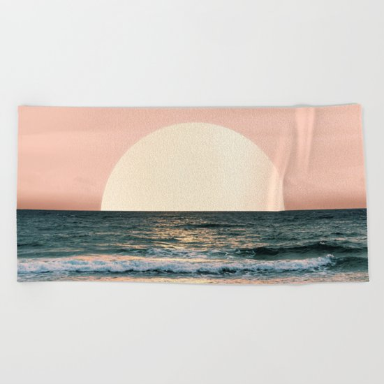 Summer Sunset Beach Towel