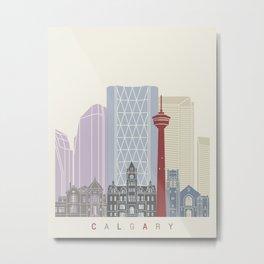 Calgary skyline poster Metal Print