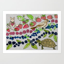 Summer Snack Time by Offhand Designs Art Print