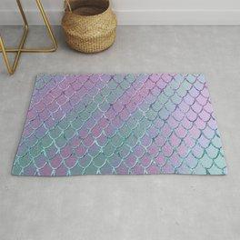 Mermaid Princess Glitter Scales Glam #1 #shiny #stripes #decor #art #society6 Rug