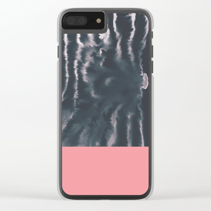 Faux Dye Pink Clear iPhone Case
