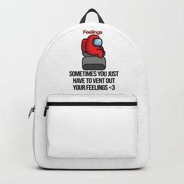 among us venting ur feelings Backpack