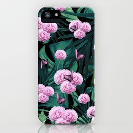 Tropical Peonies Dream #1 #floral #foliage #decor #art #society6 iPhone Case