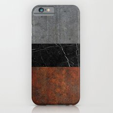 Concrete, Marble and Rusted Iron Abstract Slim Case iPhone 6s