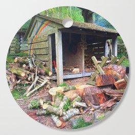 Rainbow Logs Cutting Board