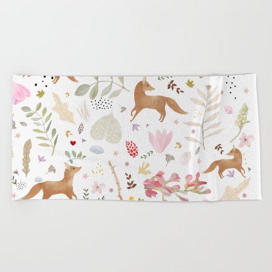 little foxes Beach Towel