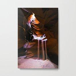 Molten Time Metal Print