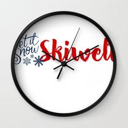 Snow in Skiwelt Wall Clock