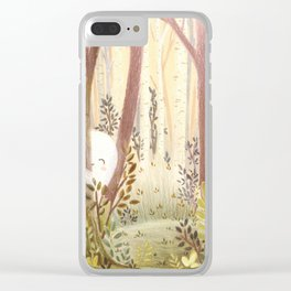 Little ghost in the woods Clear iPhone Case