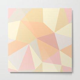 Modern Abstract Geometric Print Pattern No. 2 Metal Print