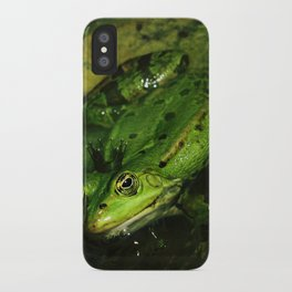 kiss the frog iPhone Case