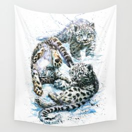 Little snow leopards Wall Tapestry
