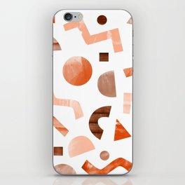 geometric shapes peach iPhone Skin