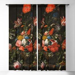 Vintage Flowers by Mignon Blackout Curtain