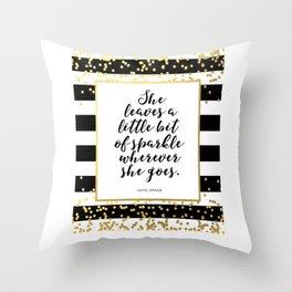 PRINTABLE Art,Kate Spade Quote,Kate Spade Decor,Girls Room Decor,Girls Bedroom Decor,Wall Art,Sparkl Throw Pillow