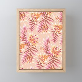 Fasciata Tropical - Peach Framed Mini Art Print