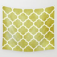 morocco Wall Tapestries featuring MOROCCO - MUSTARD by pike design