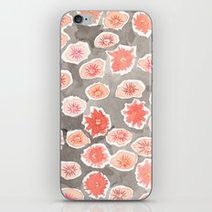 Watercolor flowers pink and gray by robayre iPhone & iPod Skin