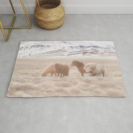 WILD AND FREE 3 - HORSES OF ICELAND Rug