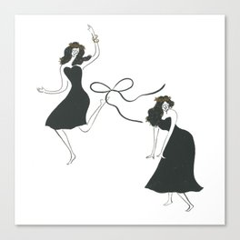 dance at this moment Canvas Print