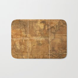 Map of the United States of America (1822) Bath Mat