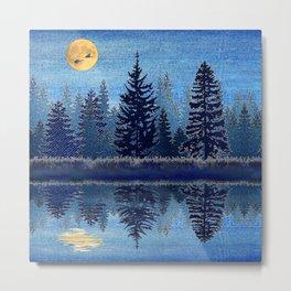 Denim Design Pine Barrens Reflection Metal Print