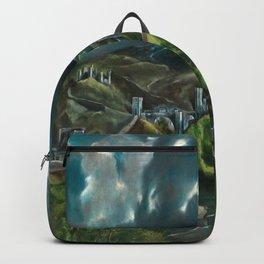 El Greco's View of Toledo Backpack