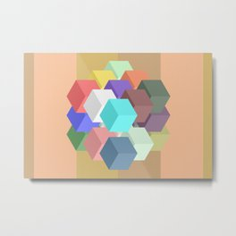Cube Mass Metal Print