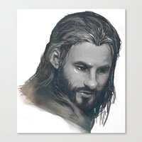 fili Canvas Prints featuring fili BnW by brilcrist