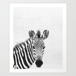 Zebra, Animal, ZOO, Safari, Nursery, Minimal, Modern, Wall art Art Print