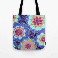 psychedelic Tote Bags featuring Psychedelic by Marina K.