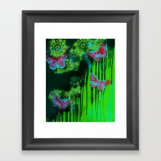 Teal Wings Framed Art Print