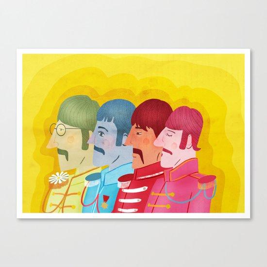 John, Paul George and Ringo Canvas Print