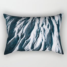 Arctic Glacial Pattern from above - Landscape Photography Rectangular Pillow