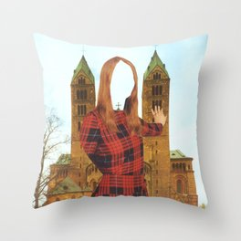 Mujer Catedral Throw Pillow