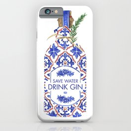Save Water Drink Gin iPhone Case