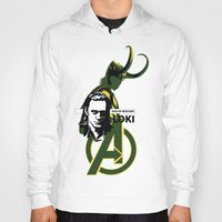 loki Hoodies featuring LOKI by Mad42Sam