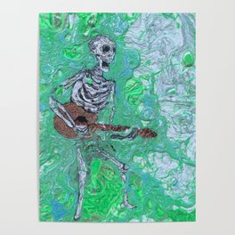 """Two-String Joe Mang"" by Jordan Halstead Poster"