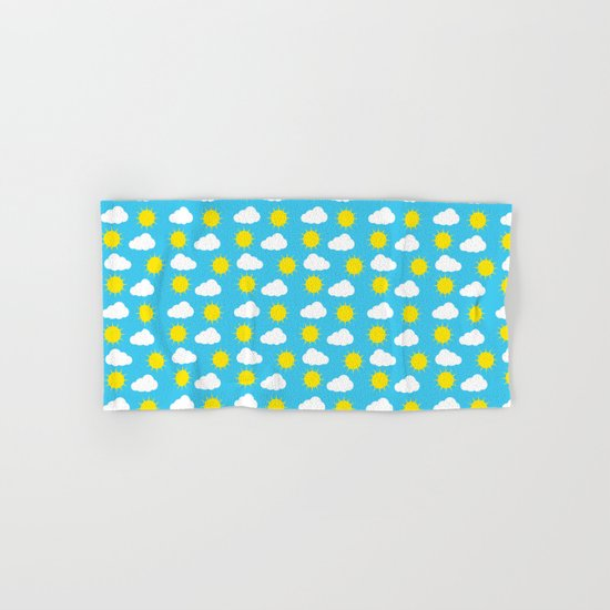 Sun & Clouds Hand & Bath Towel