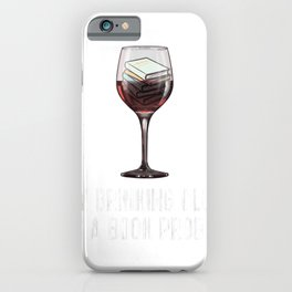 Funny Wine Book Club Tee My Drinking Club Has Book Problem iPhone Case