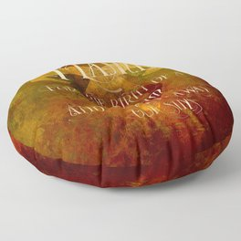 FLAME for the birth of a Nephilim and to wash away our sins. Shadowhunter Children's Rhyme. Floor Pillow