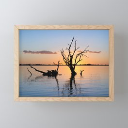 Sunset Silhouette Framed Mini Art Print