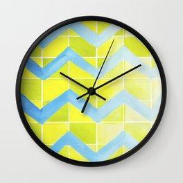 Chevron Checkers.  Wall Clock