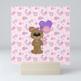 Mommy Bear Loves his Mommy Mini Art Print